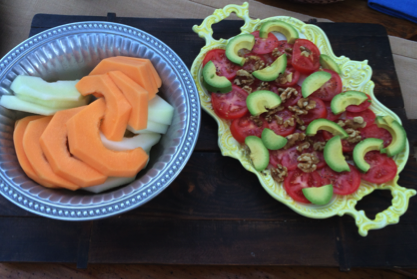 Melon & Sliced Tomatoes